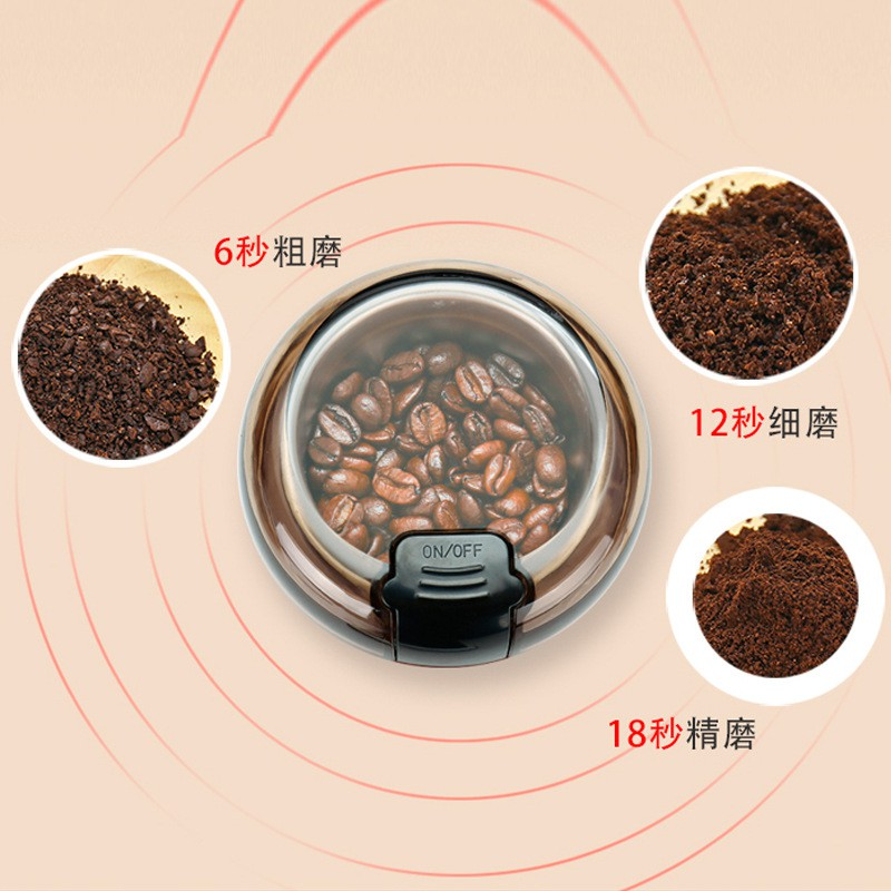 台灣速發110v咖啡研磨機 粉碎機 五穀雜糧磨粉機 小型乾磨機