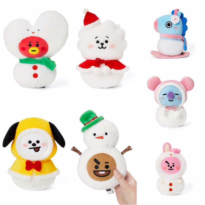正版BT21 TATA CHIMMY RJ KOYA COOKY CHOOKY MANG 冬季造型 站姿絨毛娃娃 玩偶
