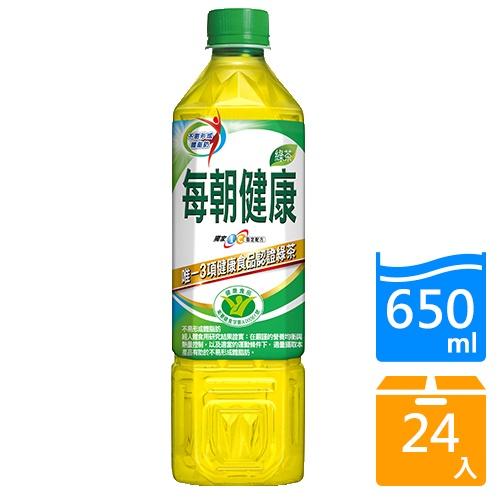 御茶園每朝健康綠茶 650MLx24 瓶【愛買】