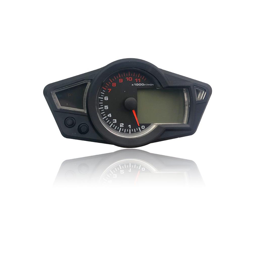 麻麻摩配 機車液晶儀表機車LCD儀表里程表改裝轉速表電子表speedometer