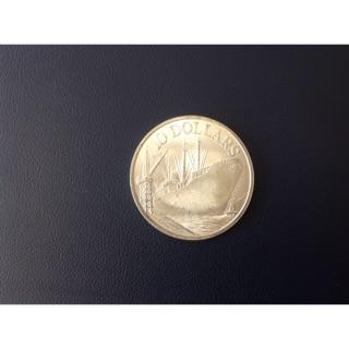 1977新加坡發行(大輪船「銀幣1oz10dollar1枚」)品相佳(銀光閃閃),相當值得珍藏,祝您財源廣進,日夜發大財 新北市