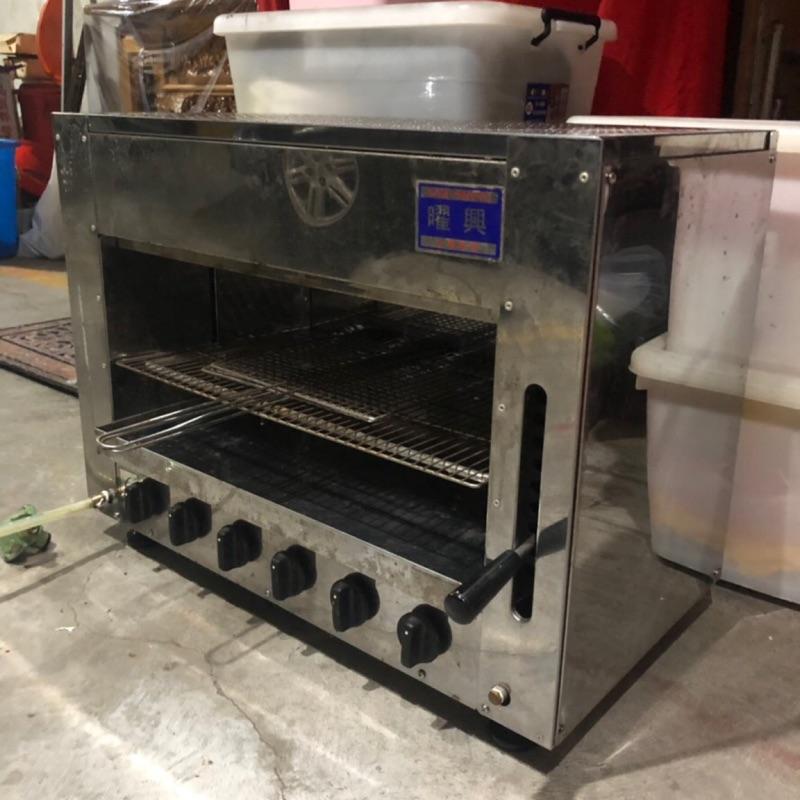 《二手》基隆面交 耀興6管上火烤爐 烤箱台 烤蝦台 紅外線燒烤爐 火管烤爐 無煙燒烤爐  二手出清