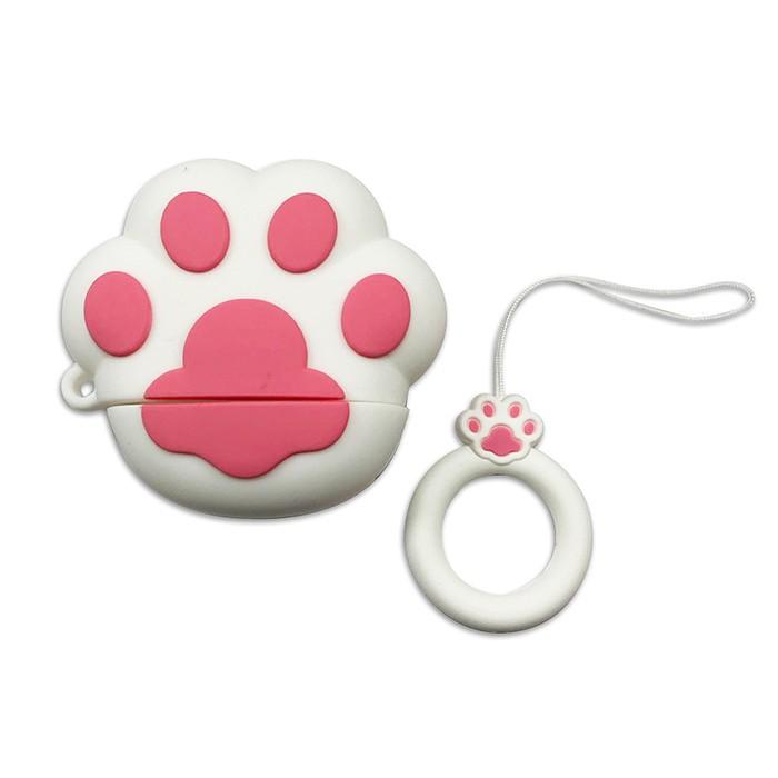 (福利品)AirPods 貓掌小巧可愛造型保護套(1/2代通用)