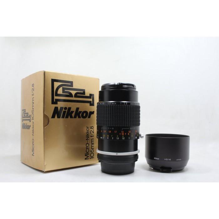 【青蘋果3C】Nikon NIKKOR Ais 105mm f2.8 Micro 手動鏡 二手鏡頭 極新 #15303