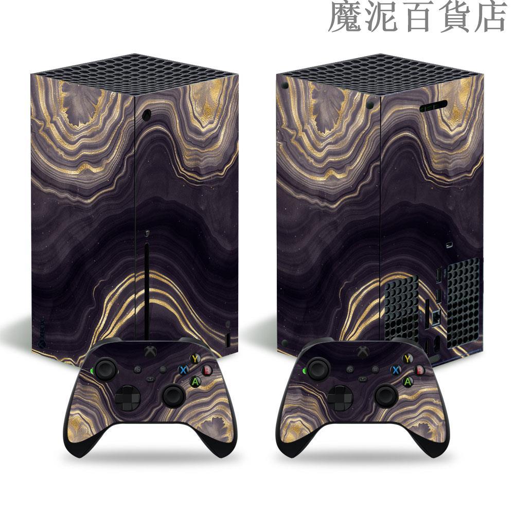 Xbox Series X主機貼紙Xbox Series S貼紙木紋石頭紋支持來圖定製