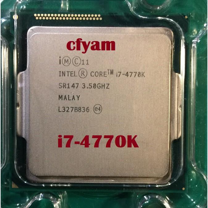 現貨 Intel CPU i7-4770K 超頻版 中古良品 1150腳位 含風扇