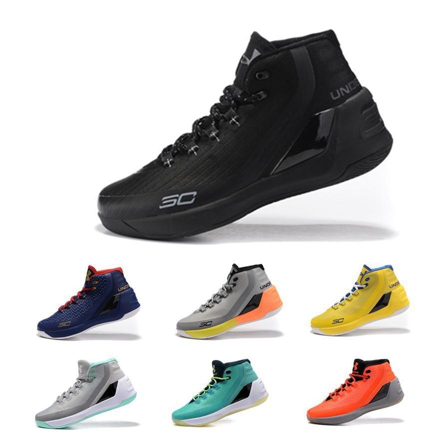 ☀新款UA Under Armour UA Curry 3安德瑪庫里3代戰靴Curry3代高筒男子籃