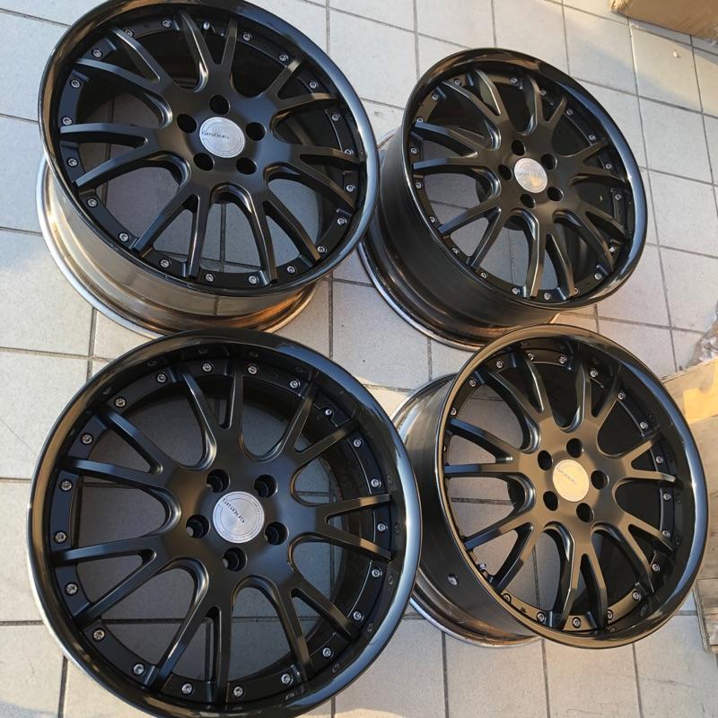 19寸 5-112 鍛造鋁圈 work 兩片式鍛造鋁圈 VW AUDI 賓士 cla cls work