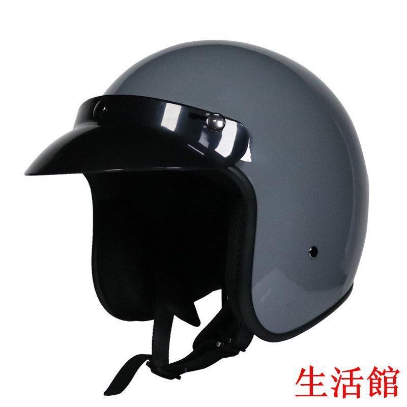 機車安全帽 VOSS復古哈雷安全帽 半盔男女哈雷夏季 機車安全帽四季 3/4盔半覆式 G4X生活館GAXGH