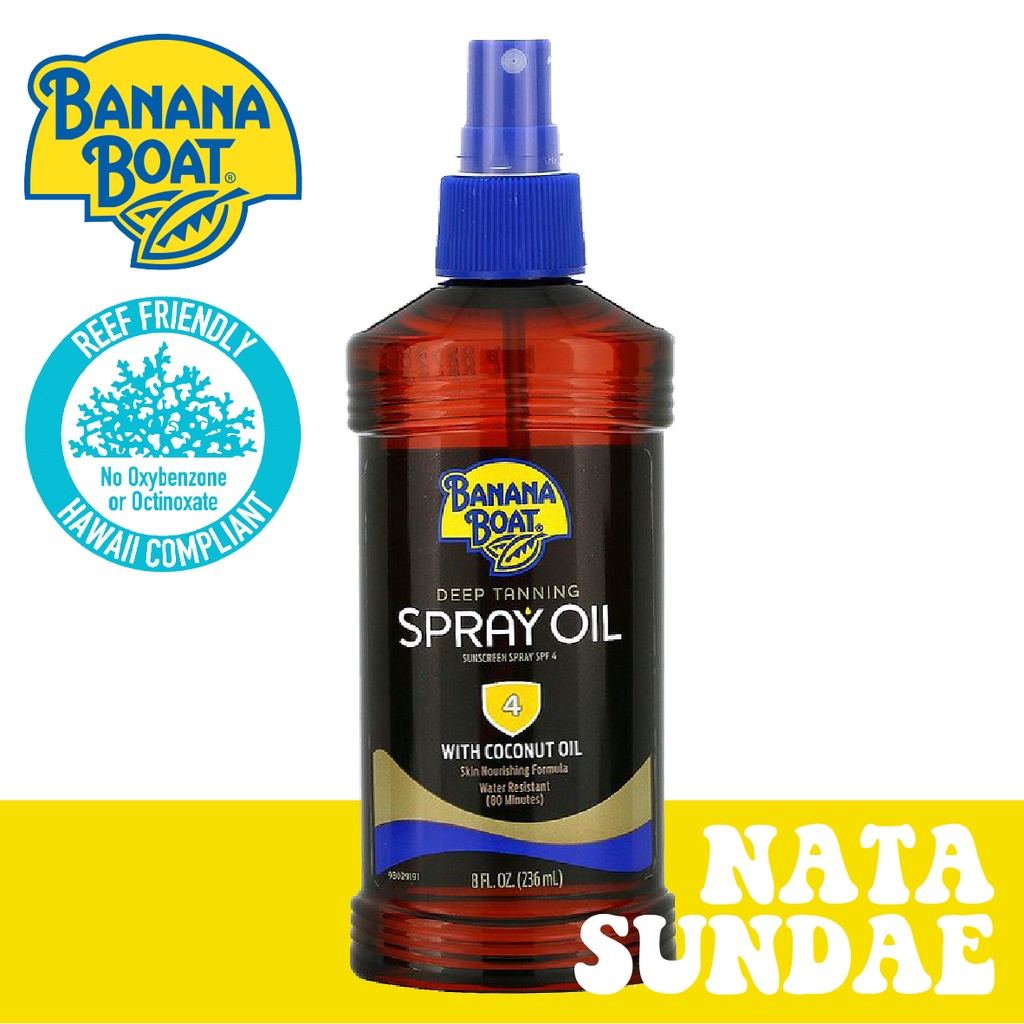 ⎨現貨⎬⫸⟡BANANA BOAT 香蕉船 室外助曬油 噴頭型 TanningSprayOil SPF4 8oz ⟡⫷