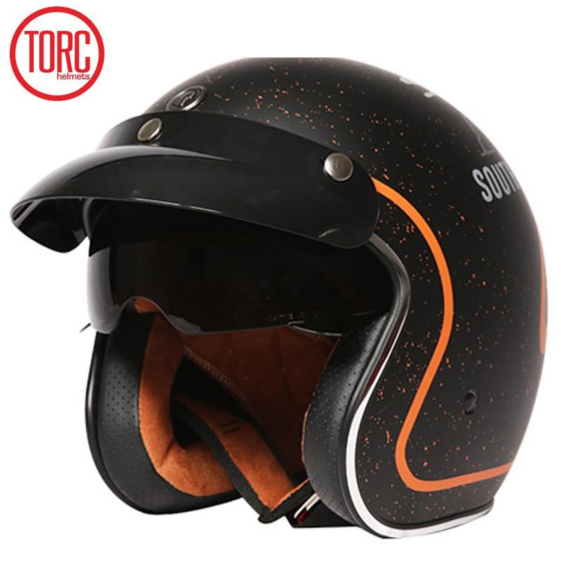 【大雄】TORC摩托車頭盔男女半覆式個性騎行機車哈雷半盔四季電動車安全帽