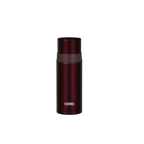 THERMOS 膳魔師 FFM-350 不銹鋼真空保溫瓶 棕色 不鏽鋼 黑皮TIME