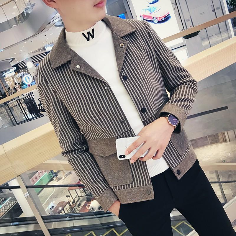 重磅推薦社會春秋季外套男士韓版潮流帥熱賣氣麂皮絨夾克精神小伙工裝修身翻領上衣
