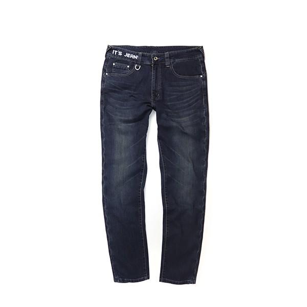 【RETOP】涼感合身牛仔長褲 藍 彈性牛仔褲 顯瘦修身 休閒褲 PM71804-11