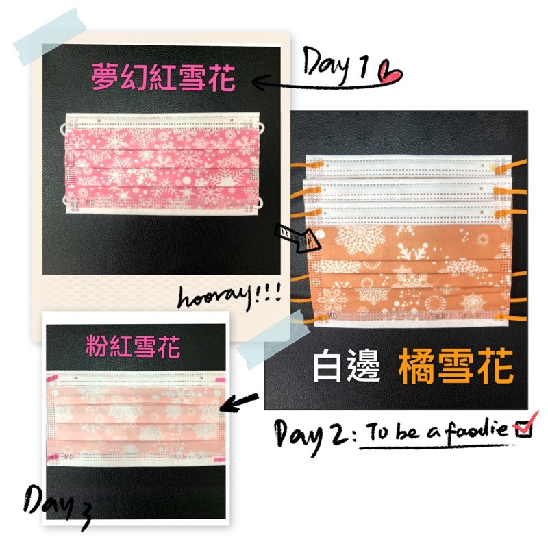 【荷康☆丰荷現貨】台灣MIT雙鋼印MD 醫用成人口罩-國家隊 情人節 新年 聖誕節 藍雪花 彩虹 玫瑰金 促銷最低價