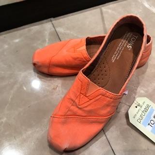 Toms 正品 全新 女鞋 經典 螢光橘 新北市