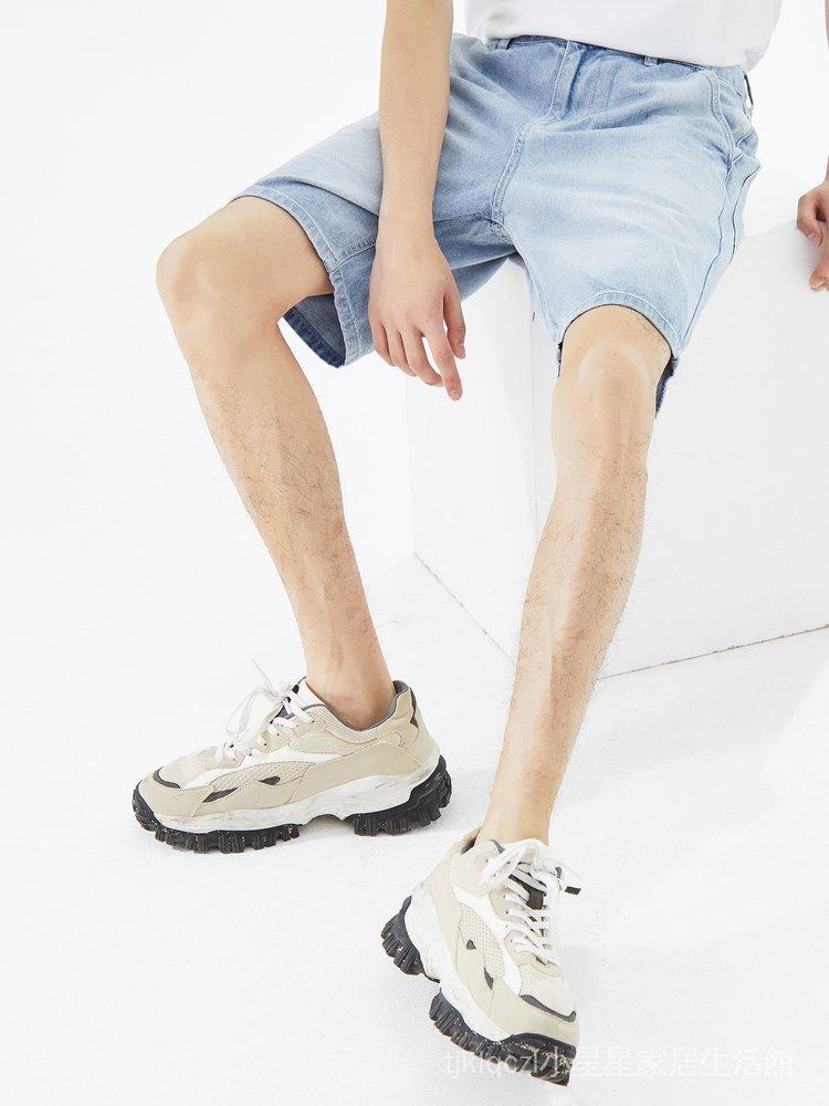美特斯邦威牛仔短褲男潮流新款夏季休閒合體帥氣學生男牛仔五分褲