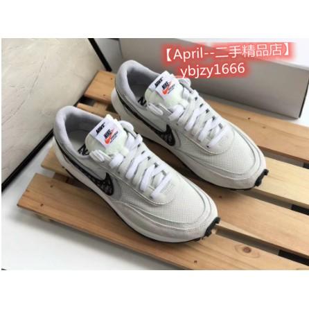【April--二手精品店】Nike x Sacai x Dior 聯名 20新款 白灰 休閒鞋
