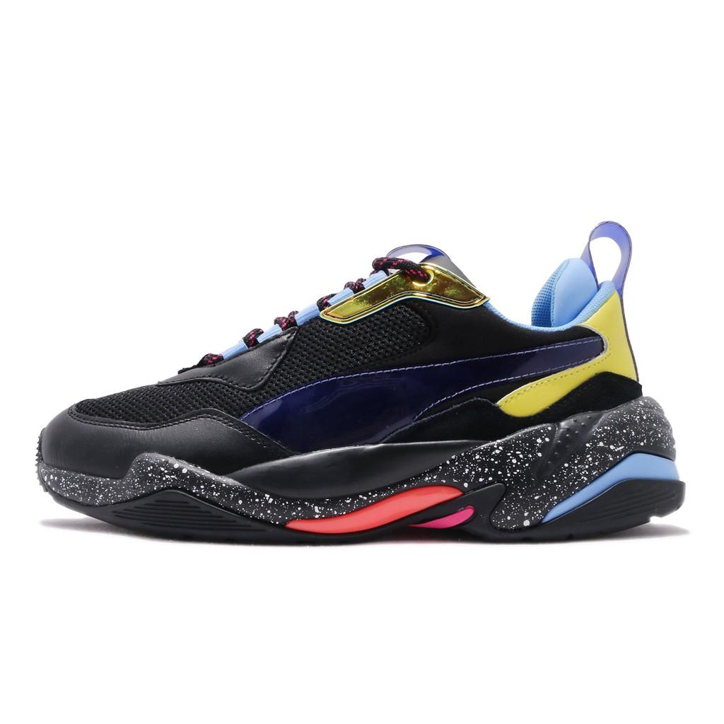 Puma 老爹鞋 Thunder Space 黑 彩色 復古慢跑鞋 皮革鞋面 運動鞋 女鞋 37076801【ACS】