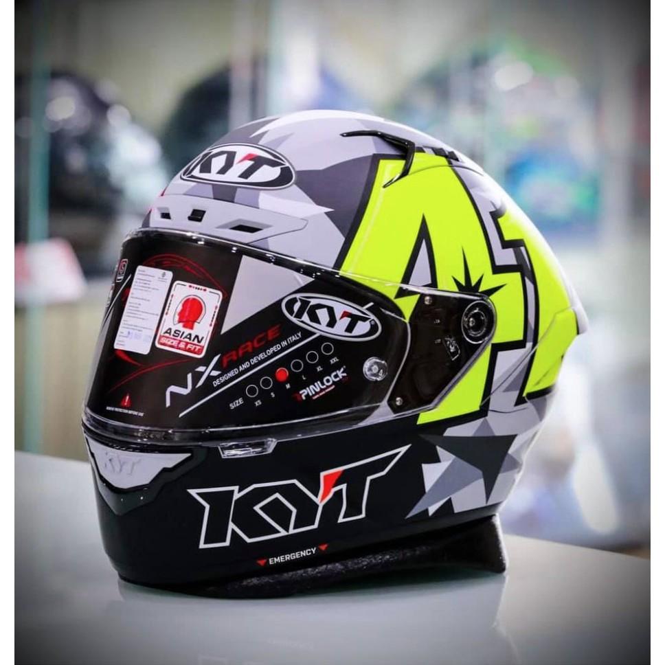 UPC部品板橋總店Ⓡ KYT NX RACE NZ RACE #41 選手 全罩 安全帽 灰/螢光黃 預購