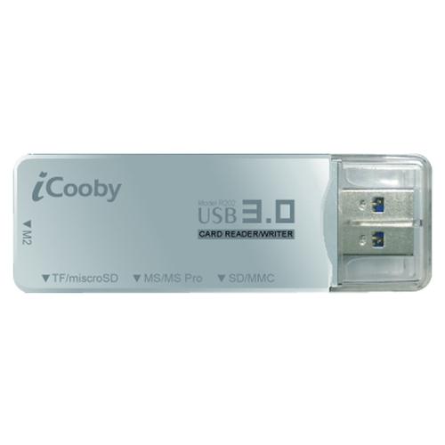 iCooby R202 USB3.0迷你讀卡機(黑)