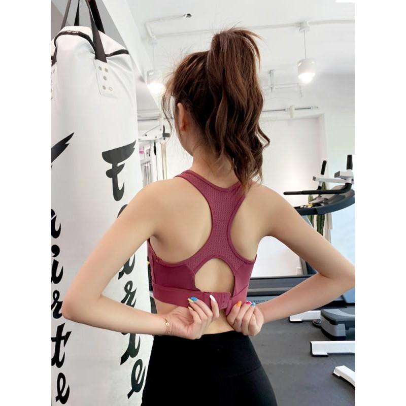 運動內衣女高強度防震可外穿美背瑜伽背心聚攏減震防下垂健身文胸