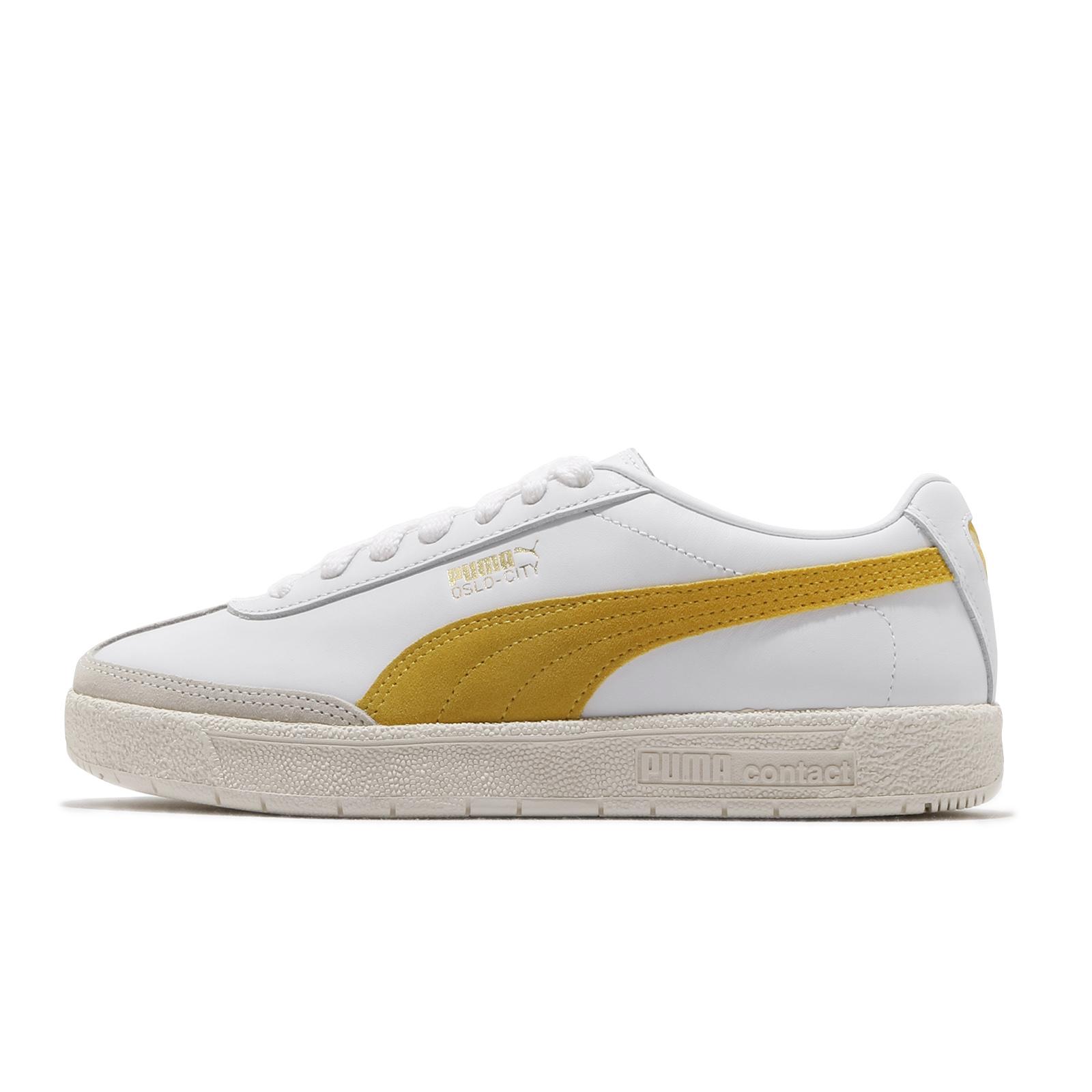 Puma 休閒鞋 Oslo-City PRM 白 黃 男鞋 女鞋 復古 網球鞋 多功能鞋 【ACS】 374800-01