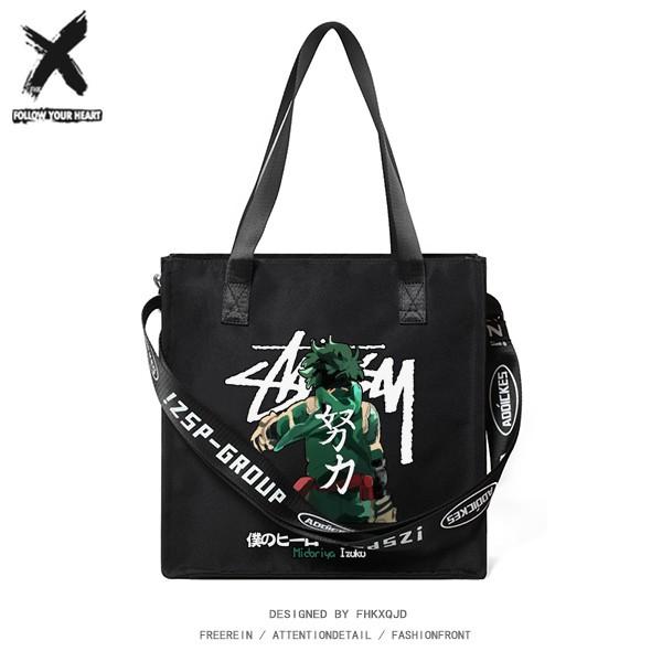 【titidapt】日系動漫卡通潮流學生單肩包斜挎包手提包袋布包手拎男女生休閑潮