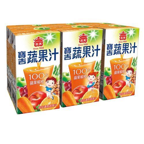 義美寶吉蔬果汁-蘋果柳橙125mlX24入(箱)