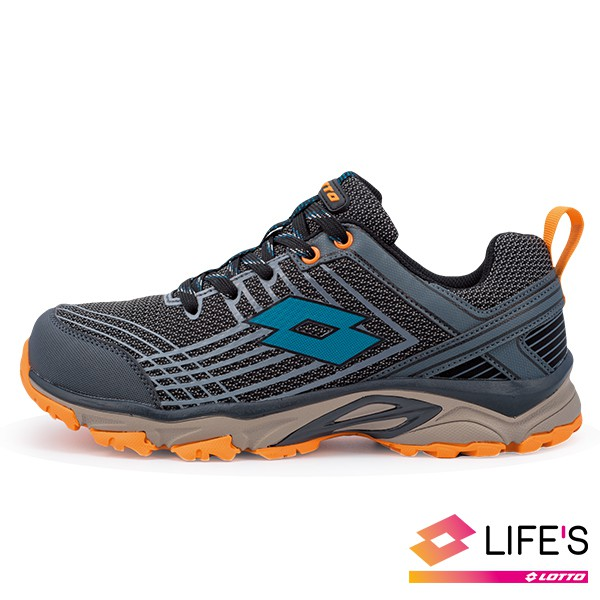 LOTTO JOURNEY 越野跑鞋 跑鞋 慢跑鞋 運動 路跑 越野 寬楦 專業鞋 灰橘色 男鞋 LT0AMR1768