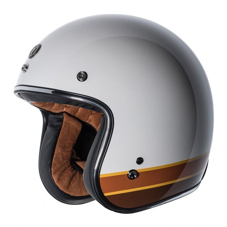 【金剛安全帽】TORC T-50 ISO BARS 亮光白 3/4 騎士帽 安全帽 復古帽 DOT/CNS 雙安全認