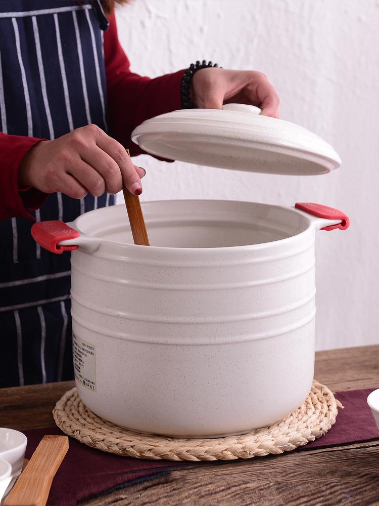 超大容量8L燉鍋砂鍋煲湯煮粥蒸汽鍋陶瓷鍋明火耐高溫沙鍋大號
