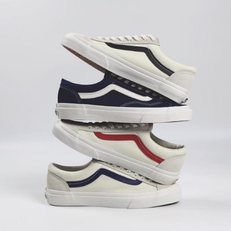 692c22884a4  活動特價數量有限售完為止 Vans Vault OG Style36萬斯週年LXM米紅白黑白紅白藍紅線滑板鞋男鞋女鞋