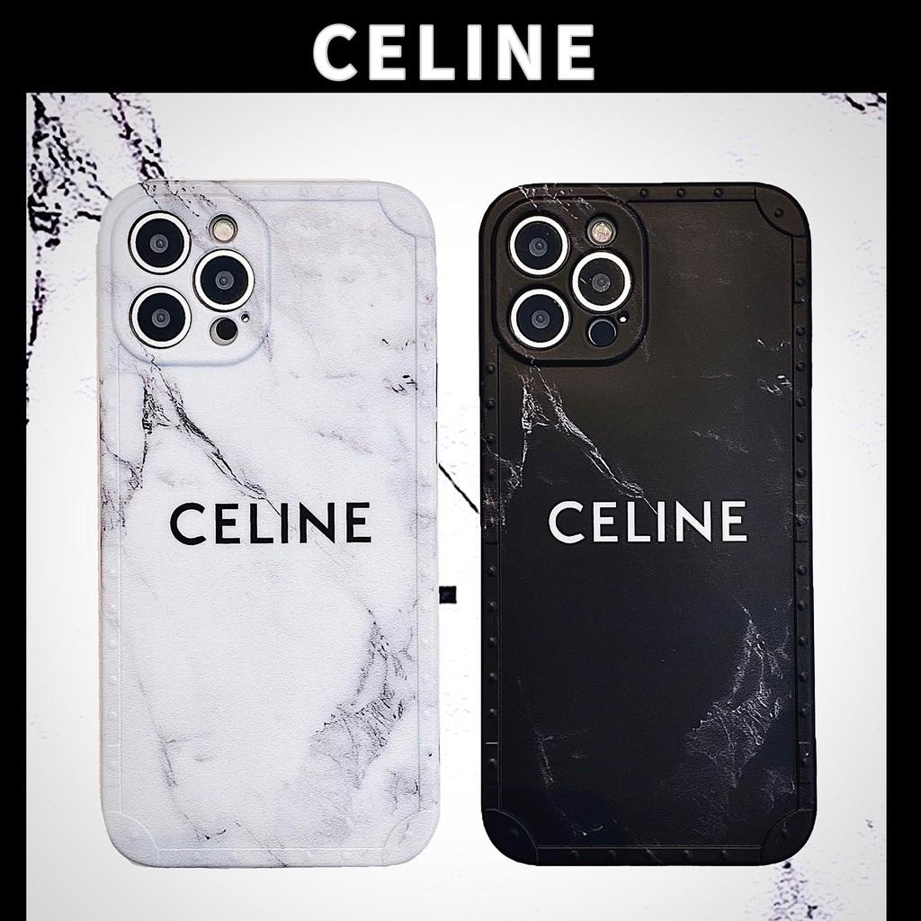 Celine 大理石紋 大牌手機殼 賽琳 老花 防摔殼 適用 IPhone 11 12 Pro Max XR X 7P