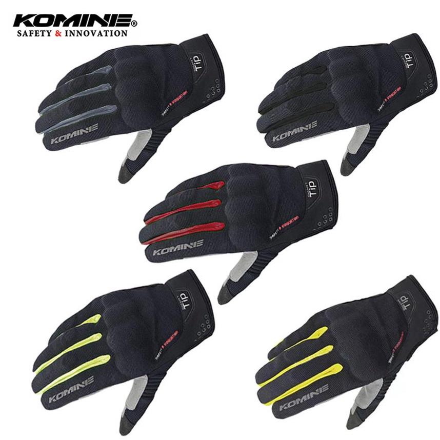 Komine GK183手套保護網格手套勇敢的觸摸屏手套機車四季騎手套Komine手套