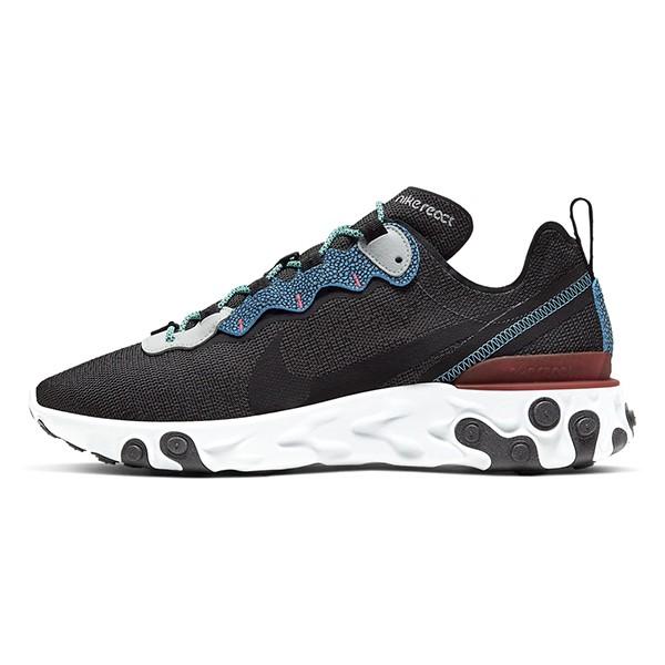 NIKE 【CD2153-001】Reac tElement 55se 慢跑鞋 透氣網布 運動 黑藍色 男生尺寸