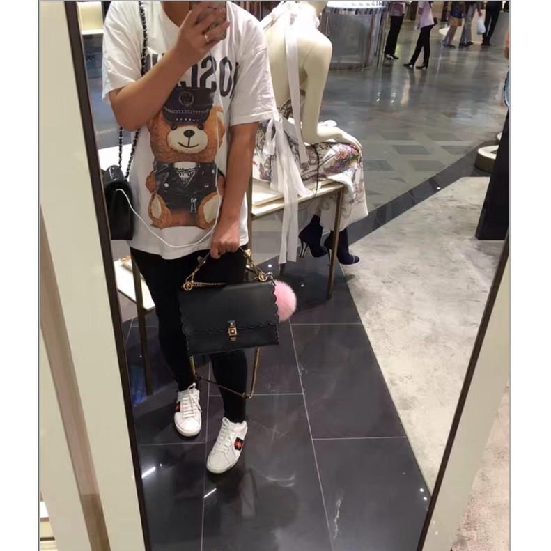 《小悅二手店》FENDI 全黑 波浪紋 手提包 肩背包 斜背包 海外