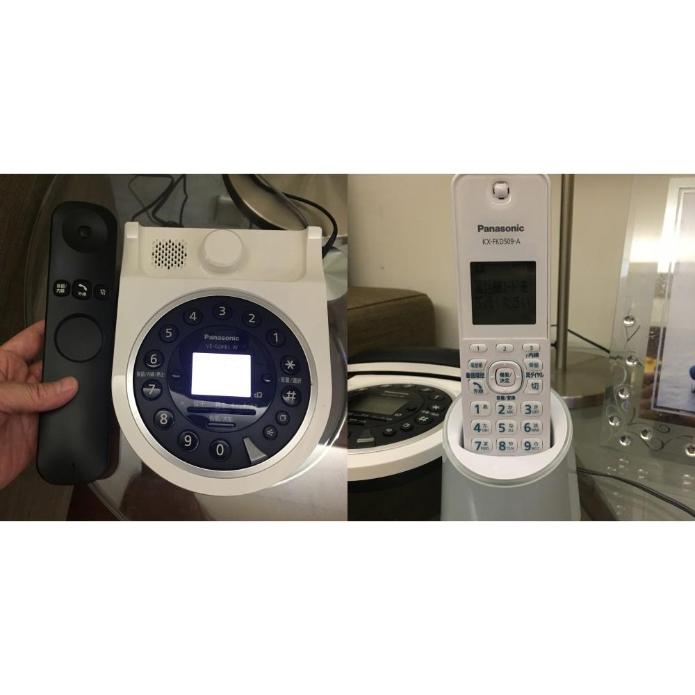 日本 Panasonic 室內無線電話,主機 + 子機 + EX1000 來電顯示器