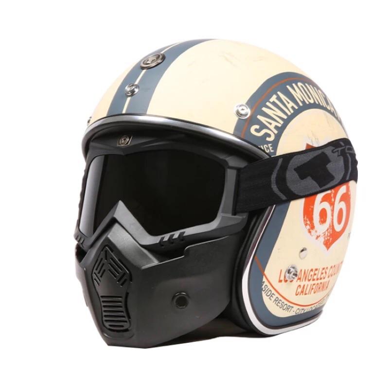 🔥NP 安全帽🔥 現貨⭕ TORC摩托車復古帽風鏡面罩