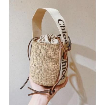 全新專櫃正品 Chloe 爆款 ss21 Woody菜籃子 托特包 tote小號緞帶單肩包
