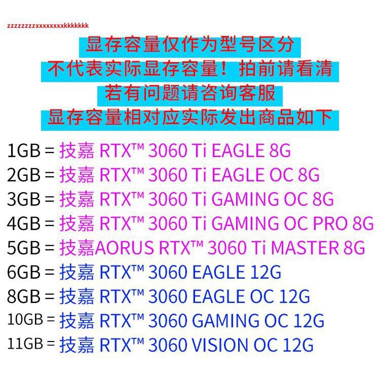 △◑❍技嘉RTX3060TI AORUS MASTER超級雕GAMING魔鷹EAGLE獵鷹OC 8G顯卡