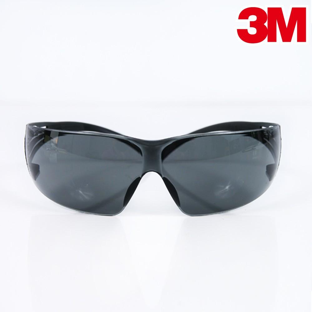 3M 極簡風黑色鏡片超輕量遮光型防UV安全眼鏡 彈性鏡架防衝擊 護目鏡 SF-202AF