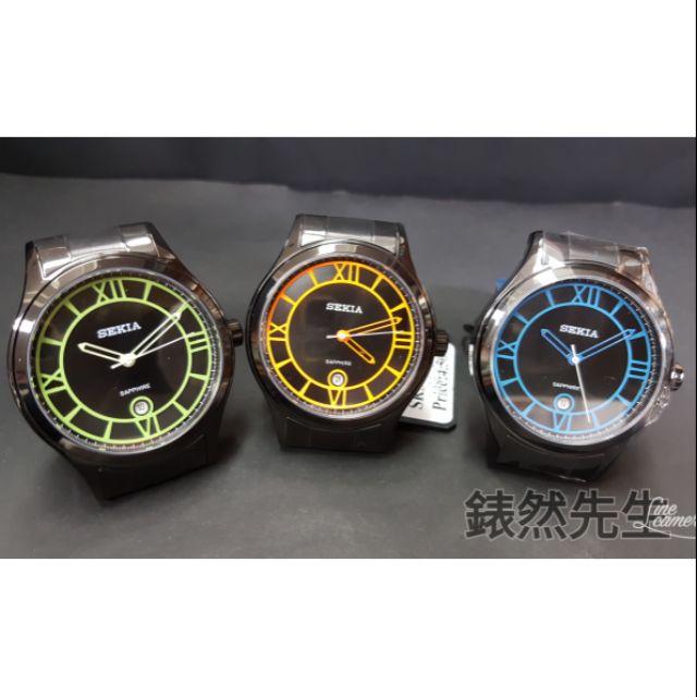 【錶然先生】精雅錶 SEKIA  40mm 動感黑 帥氣腕錶 @218
