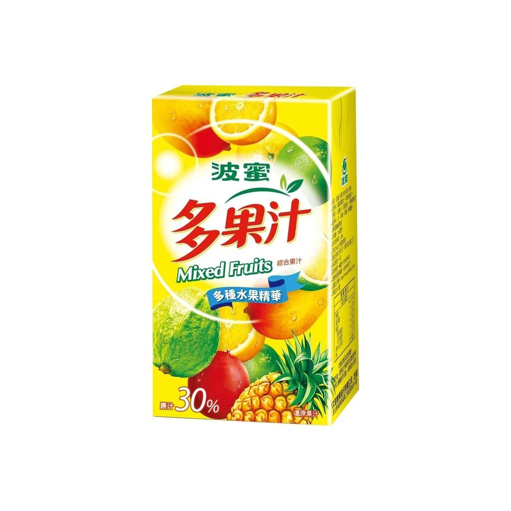 波蜜多果汁 250mlx6包/組  【大潤發】