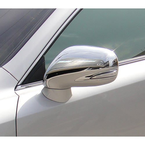圓夢工廠 Lexus 2009~2012 ES300 ES330 ES350 改裝 鍍鉻銀後視鏡蓋飾貼 防撞後照鏡蓋貼