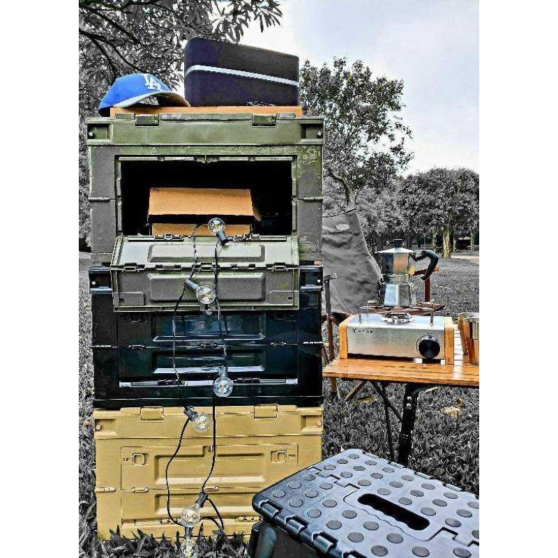 軍式風箱 側開摺疊收納箱 側開收納箱 露營收納 露營收納箱 露營美學 Filter017