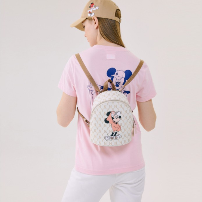K K正貨* MLB KOREA X Disney 迪士尼 聯名款 洋基NY 洛杉磯LA 米奇圖案 後背包 小後背包