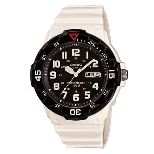 【CASIO】潛水設計運動指針錶-白X黑(MRW-200HC-7B)正版宏崑公司貨