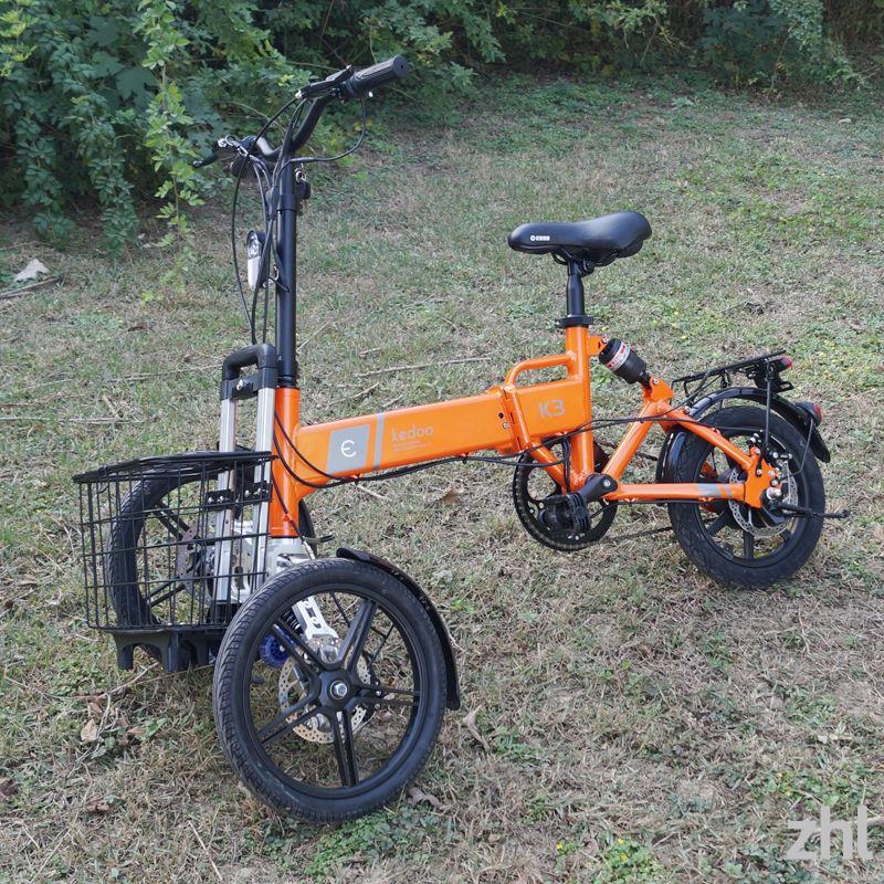 可折疊電動三輪車代步車小型家用倒三輪電瓶車電動自行車防側翻