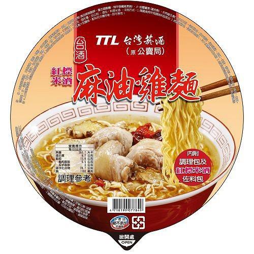 【台酒TTL】麻油雞碗麵12入
